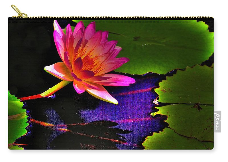 Flower Carry-all Pouch featuring the photograph Neon Lily by John Absher