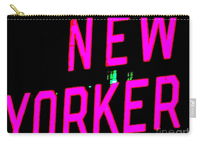 Pop Art Carry-all Pouch featuring the photograph Neon New Yorker by Ed Weidman