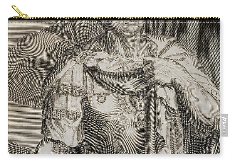 Male Carry-all Pouch featuring the drawing Nero Claudius Caesar Emperor Of Rome by Titian