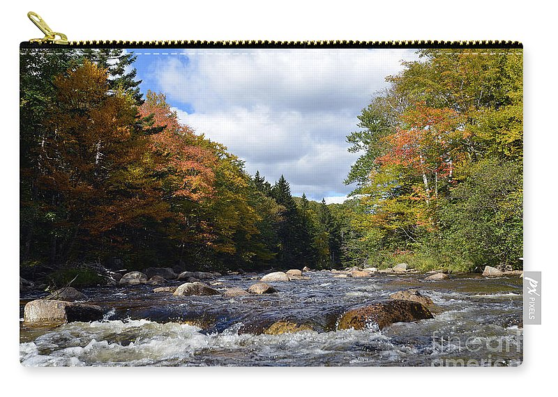Autumn Carry-all Pouch featuring the photograph Nesowadnehunk Stream 5792 by Terri Winkler