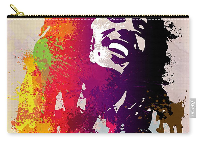 Reggae Carry-all Pouch featuring the painting Nesta Robert by Anthony Mwangi