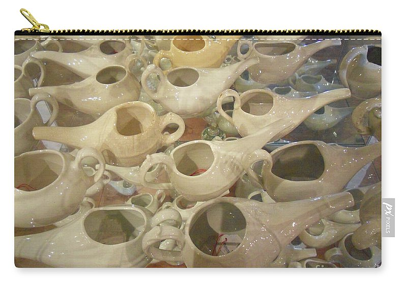 Still Life Carry-all Pouch featuring the photograph Nettie Pots by Lauren Leigh Hunter Fine Art Photography