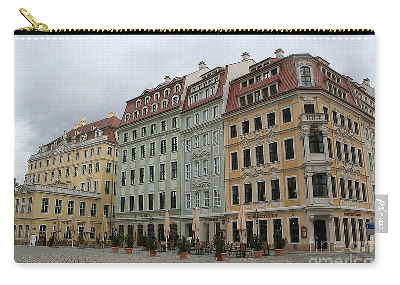 Neumarkt Carry-all Pouch featuring the photograph Neumarkt - Dresden - Germany by Christiane Schulze Art And Photography