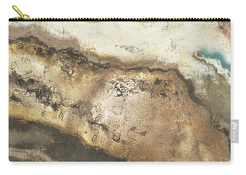 Neutral Carry-all Pouch featuring the painting Neutral Tierra Rectangle II by Patricia Pinto