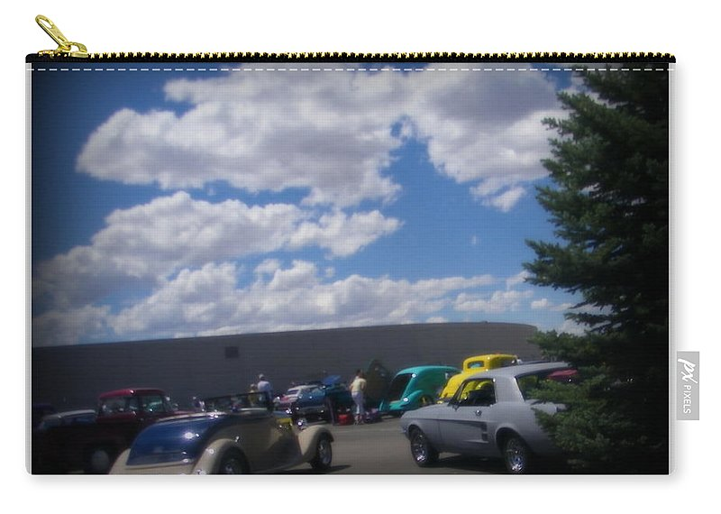 Prints On Canvas Carry-all Pouch featuring the photograph Nevada Blue Sky by Bobbee Rickard