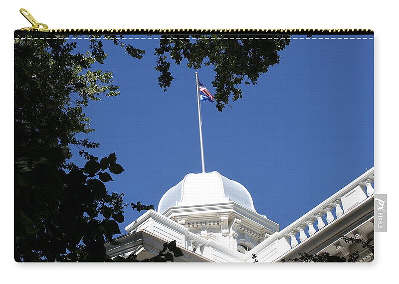 Nevada Carry-all Pouch featuring the photograph Nevada State Capitol by Donna Jackson