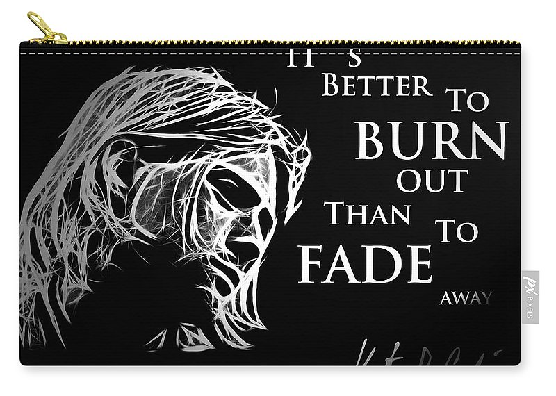 Kurt Carry-all Pouch featuring the painting Never Fade Away by Steve K