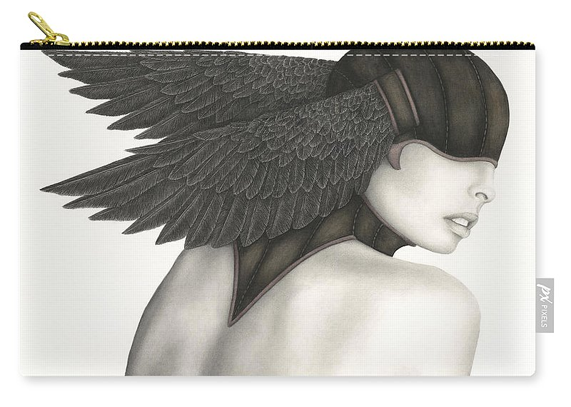 Woman Carry-all Pouch featuring the painting Nevermore by Pat Erickson