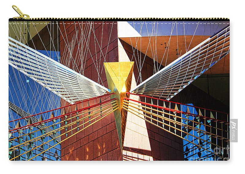 New Age Carry-all Pouch featuring the photograph New Age Performing Arts Center by Mariola Bitner
