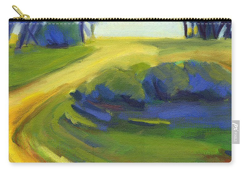 California Carry-all Pouch featuring the painting New Beginning 1 by Konnie Kim