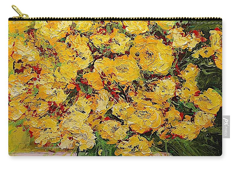 Landscape Carry-all Pouch featuring the painting New Beginnings by Allan P Friedlander
