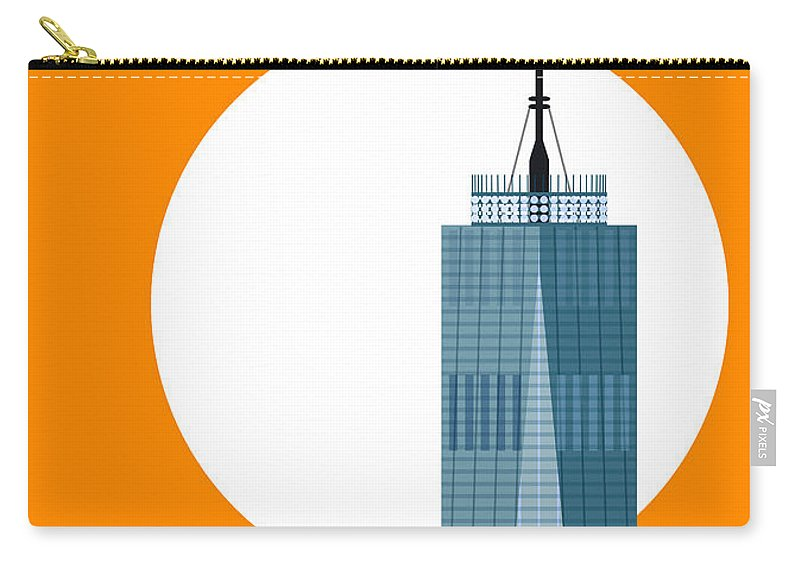 World Trade Center Carry-all Pouch featuring the digital art New Beginnings Freedom Tower by Nishanth Gopinathan