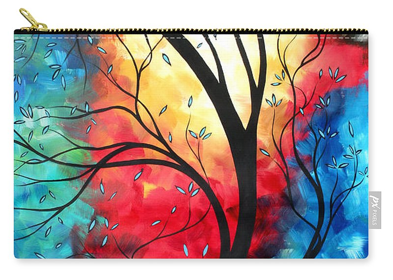 Original Carry-all Pouch featuring the painting New Beginnings Original Art By Madart by Megan Duncanson