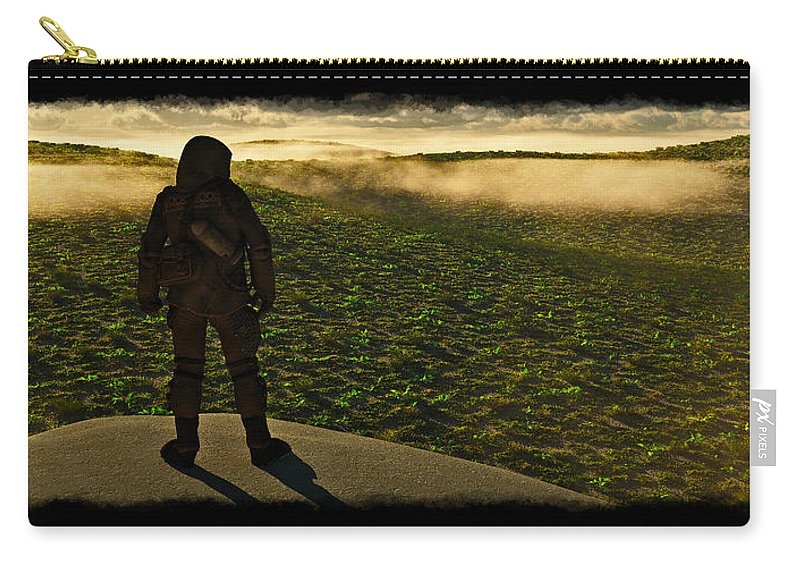 Landscape Carry-all Pouch featuring the digital art New Beginnings... by Tim Fillingim