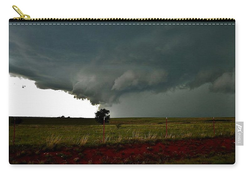 Storm Carry-all Pouch featuring the photograph New Cordell Supercell by Ed Sweeney