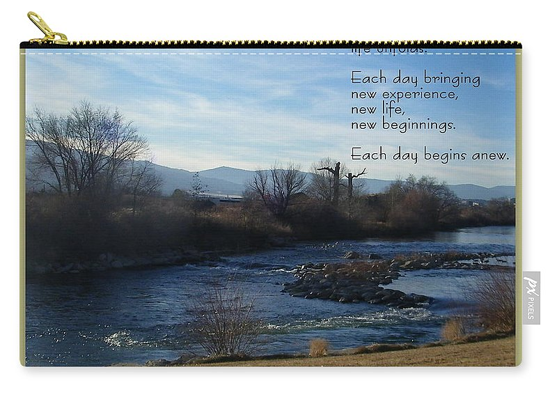 Tahoe Carry-all Pouch featuring the photograph New Day by Bobbee Rickard