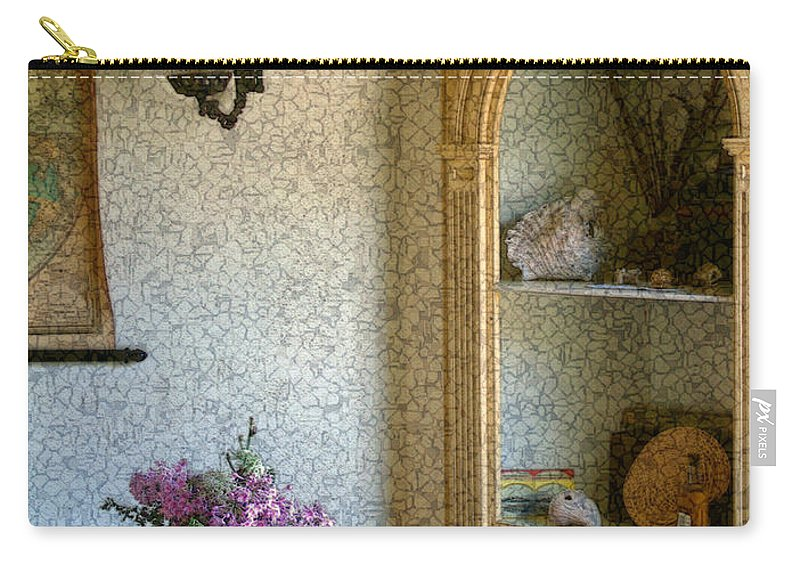 Antiques Carry-all Pouch featuring the painting New England Florentine by RC deWinter