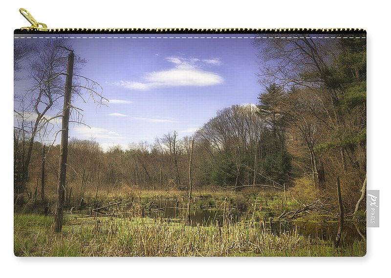Wetland Carry-all Pouch featuring the photograph New England Wetland by Fran Gallogly
