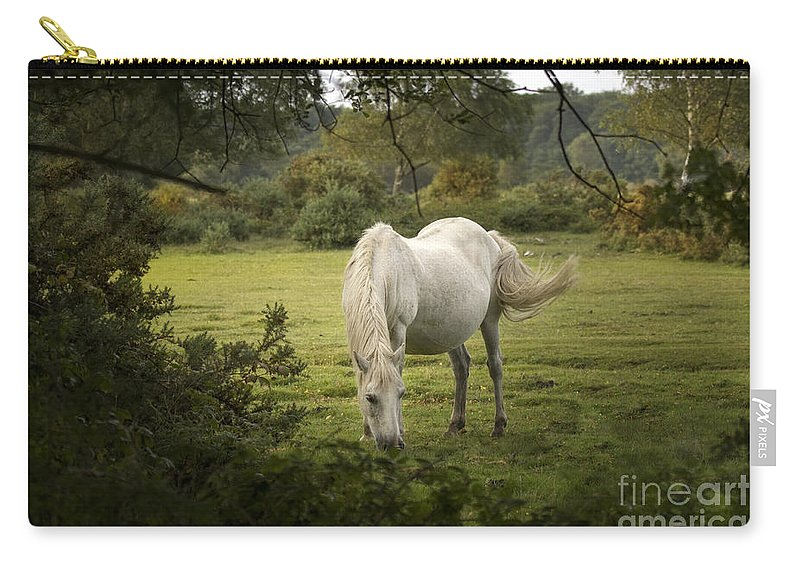 New Forest Carry-all Pouch featuring the photograph New Forest Pony by Angel Ciesniarska