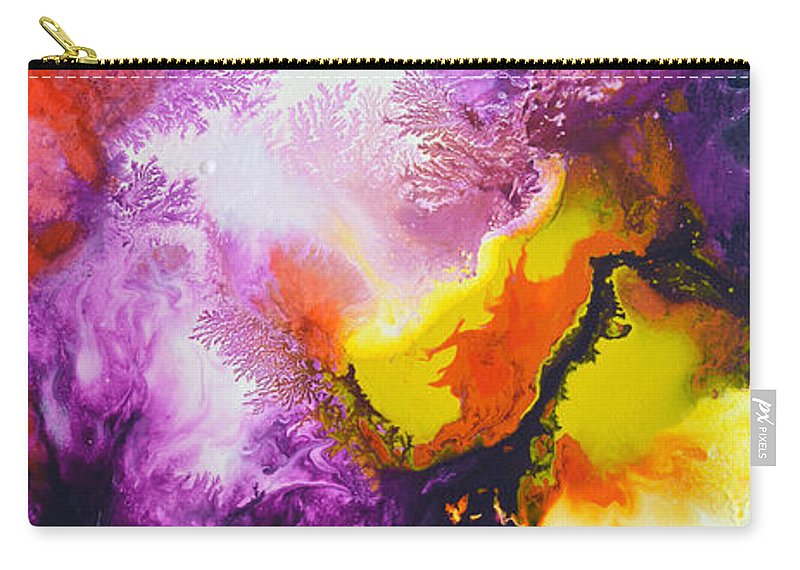 Canvas Four Of My Four Canvas Painting New Freedom. Carry-all Pouch featuring the painting New Freedom Canvas Four by Sally Trace