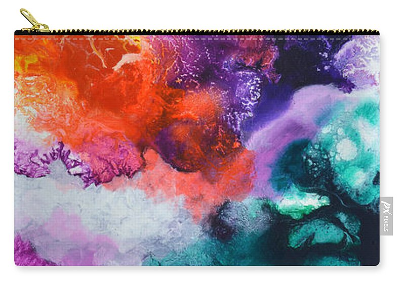 Fluid Carry-all Pouch featuring the painting New Freedom Canvas One by Sally Trace