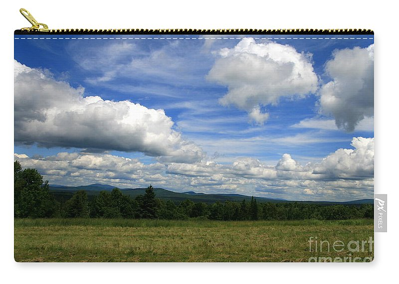 Blue Sky Carry-all Pouch featuring the photograph New Hampshire Blue Sky by Neal Eslinger