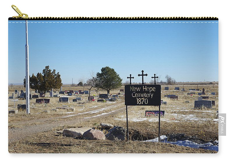 Winter Carry-all Pouch featuring the photograph New Hope Cemetery by Gary Benson