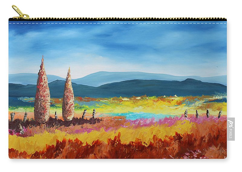 Landscape Carry-all Pouch featuring the painting New Land by Andrew Sanan