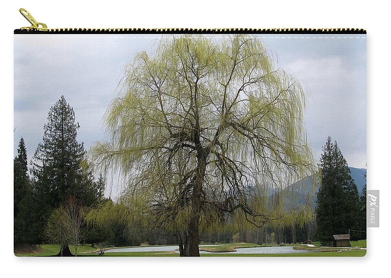 Kokanee Carry-all Pouch featuring the photograph New Leaves by Leone Lund