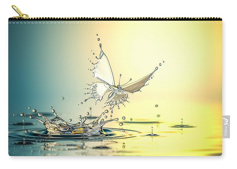 Spray Carry-all Pouch featuring the photograph New Life by Blackjack3d