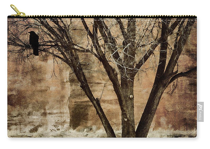 New Mexico Carry-all Pouch featuring the photograph New Mexico Winter by Carol Leigh