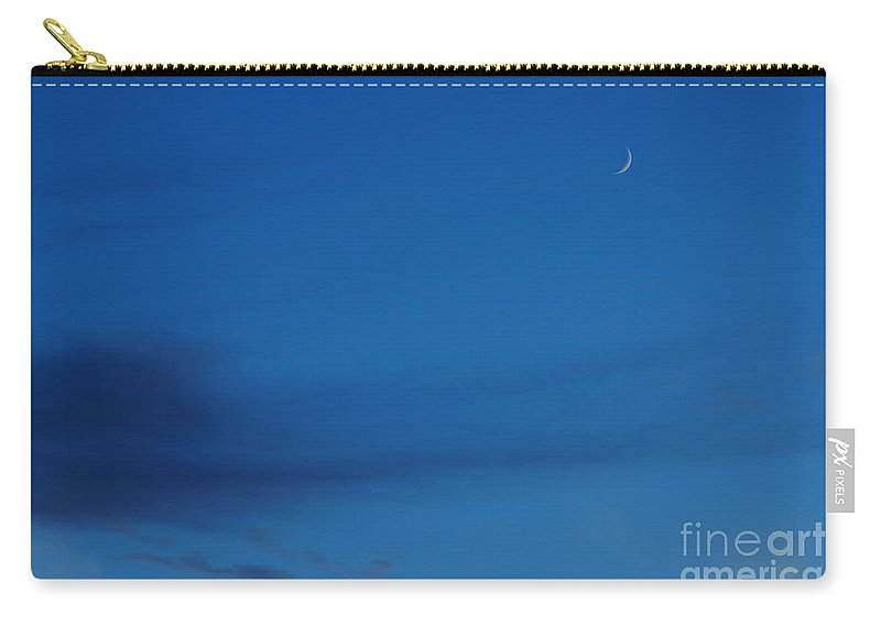 Moon Carry-all Pouch featuring the photograph New Moon by Jeffery L Bowers