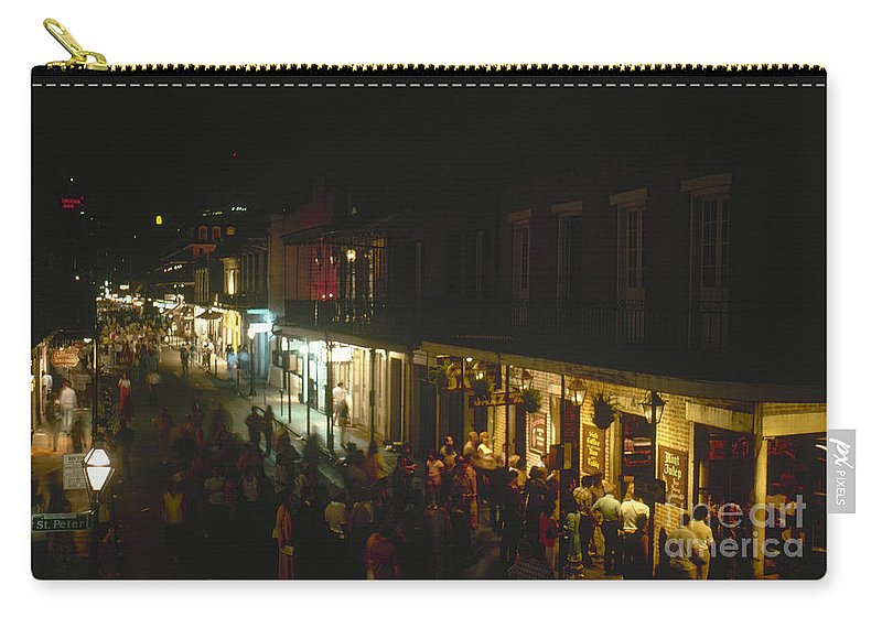 1974 Carry-all Pouch featuring the photograph New Orleans: Bourbon Street by Granger