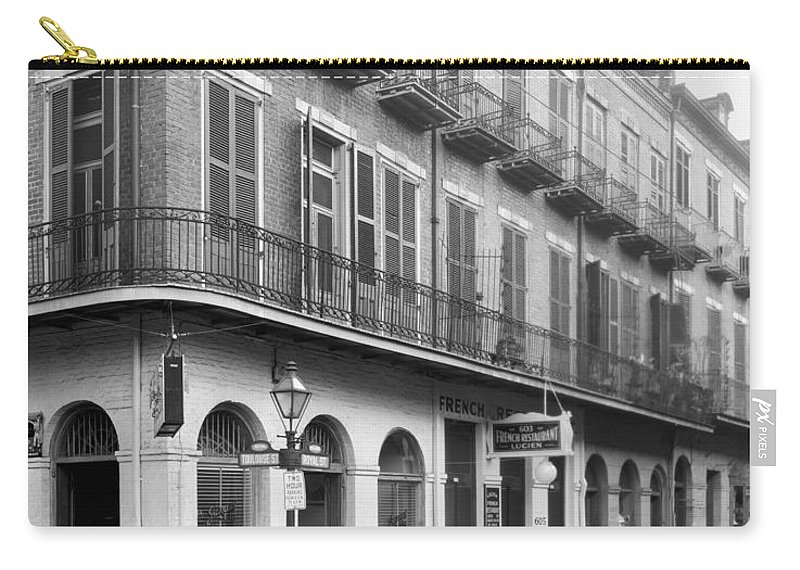 1938 Carry-all Pouch featuring the photograph New Orleans: Buildings by Granger