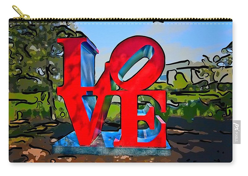 New Orleans Carry-all Pouch featuring the photograph New Orleans Love 3 by Steve Harrington