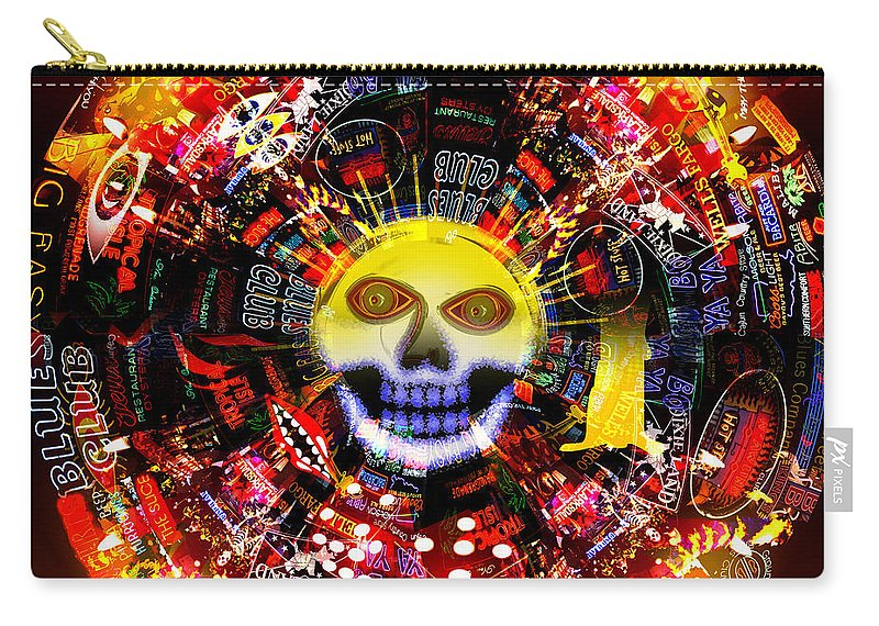 New Orleans Carry-all Pouch featuring the painting New Orleans Night by Neil Finnemore