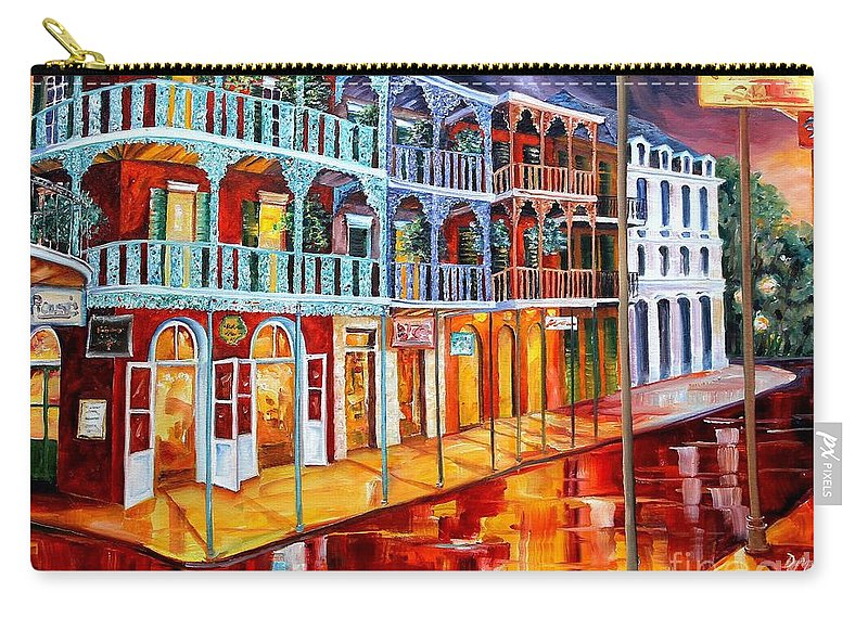 New Orleans Carry-all Pouch featuring the painting New Orleans Reflections In Red by Diane Millsap