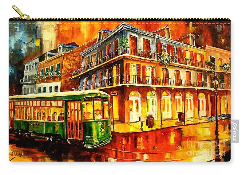 New Orleans Carry-all Pouch featuring the painting New Orleans Streetcar by Diane Millsap
