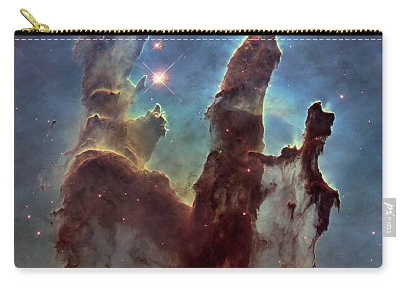 3scape Carry-all Pouch featuring the photograph New Pillars Of Creation Hd Tall by Adam Romanowicz