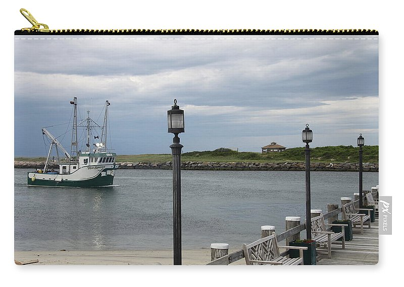Fishing Boat Carry-all Pouch featuring the photograph New Species Head Back by Christiane Schulze Art And Photography