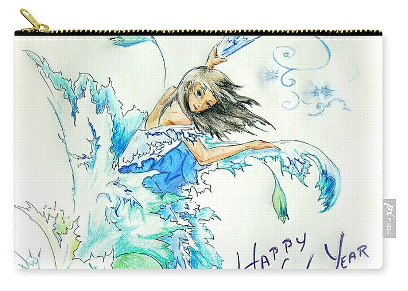 Carry-all Pouch featuring the photograph New Year 2010 by Katerina Naumenko