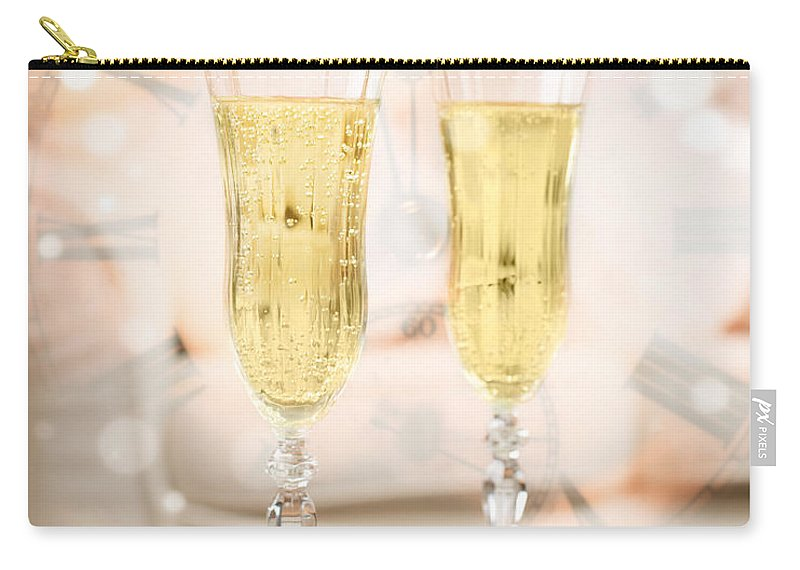 Champagne Carry-all Pouch featuring the photograph New Year Celebration by Amanda Elwell