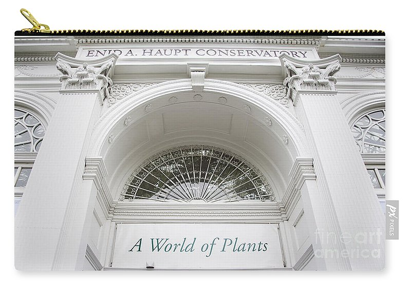 New York Botanical Garden Photograph Carry-all Pouch featuring the photograph New York Botanical Garden Archway Columns Entrance Architecture by Jerry Cowart