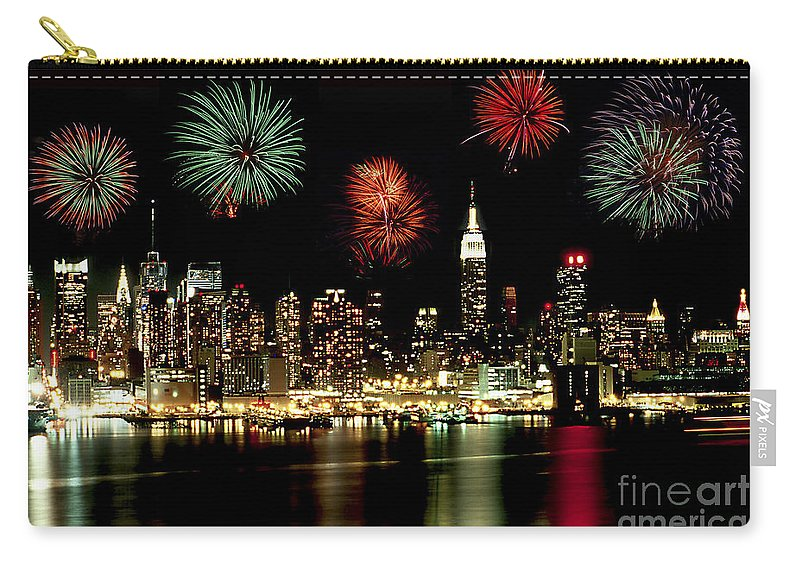 Nyc Carry-all Pouch featuring the photograph New York City Fourth Of July by Anthony Sacco