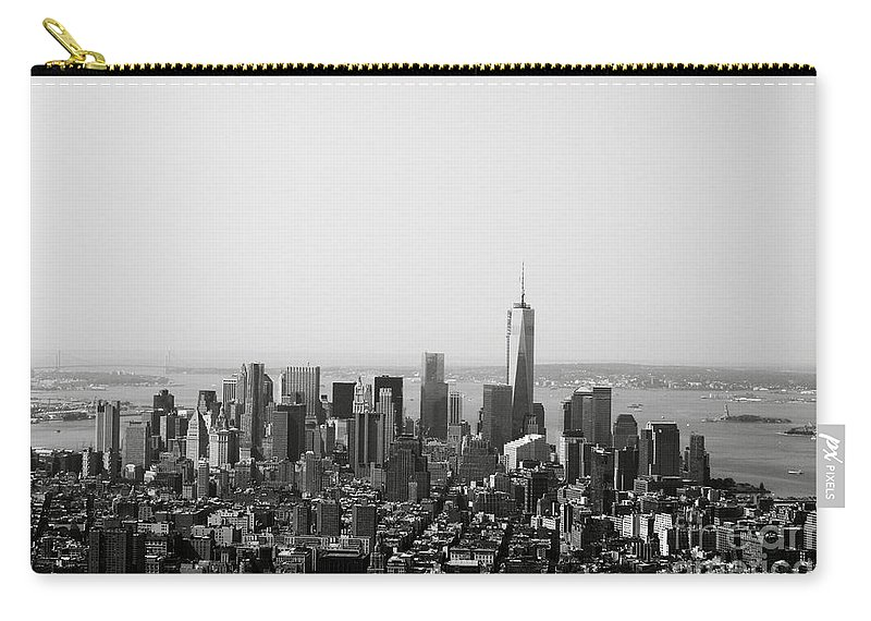New York Carry-all Pouch featuring the photograph New York City by Linda Woods