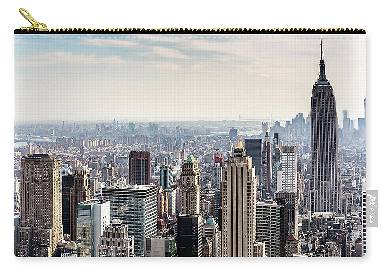 Scenics Carry-all Pouch featuring the photograph New York City Skyline by Denise Panyik-dale