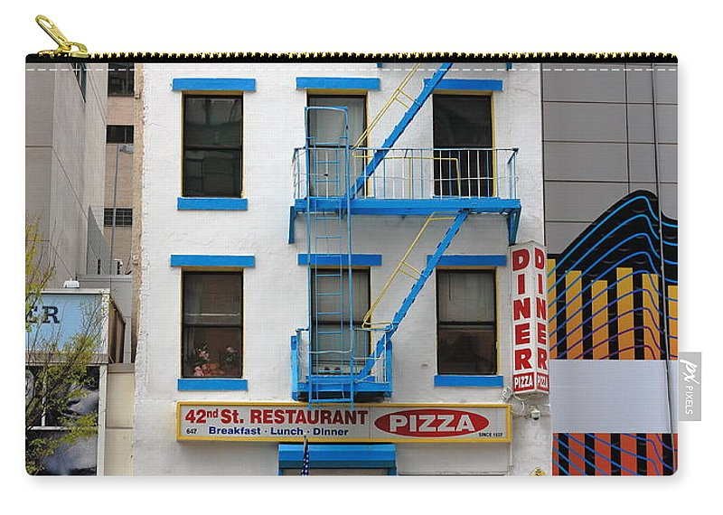 Alley Carry-all Pouch featuring the photograph New York City Storefront 5 by Frank Romeo