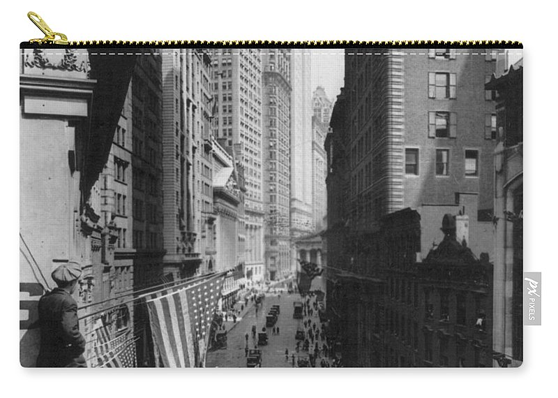 1918 Carry-all Pouch featuring the painting New York Curb Market, 1918 by Granger