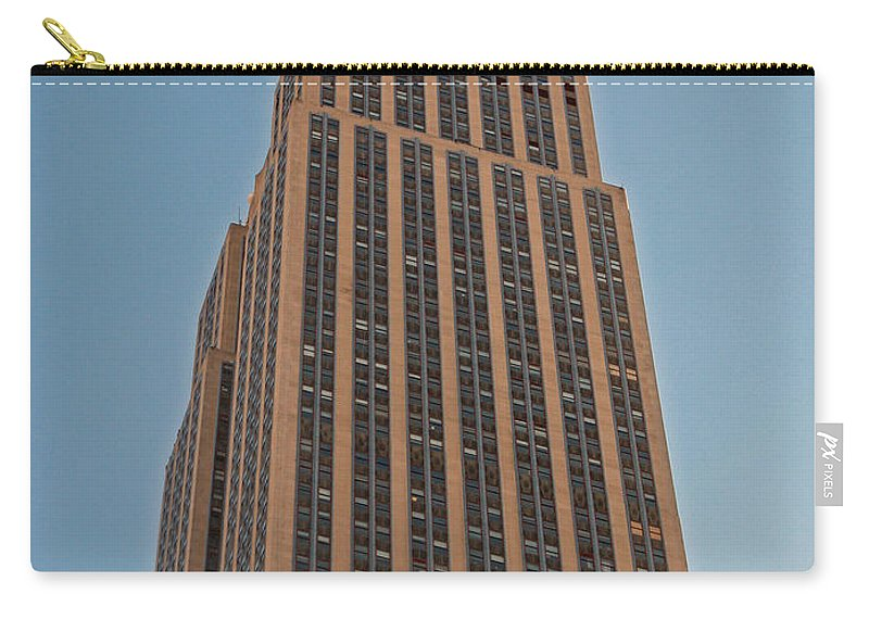 New York Carry-all Pouch featuring the photograph New York Empire State Building by Richard Bryce and Family