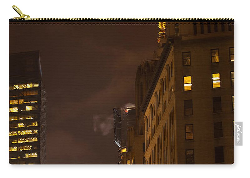 """new York City"" Carry-all Pouch featuring the photograph New York Night by Paul Mangold"